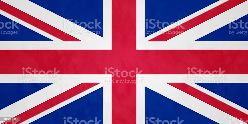 Flag Of The United Kingdom Of Great Britain And Northern Ireland stock photo