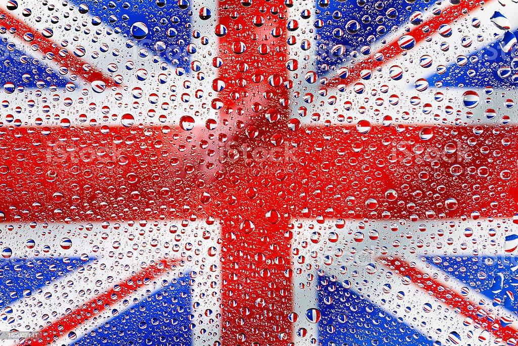 Flag of the United Kingdom royalty-free stock photo