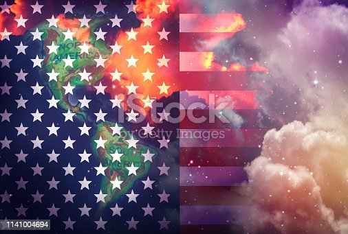 istock flag of the United Sates of America 1141004694
