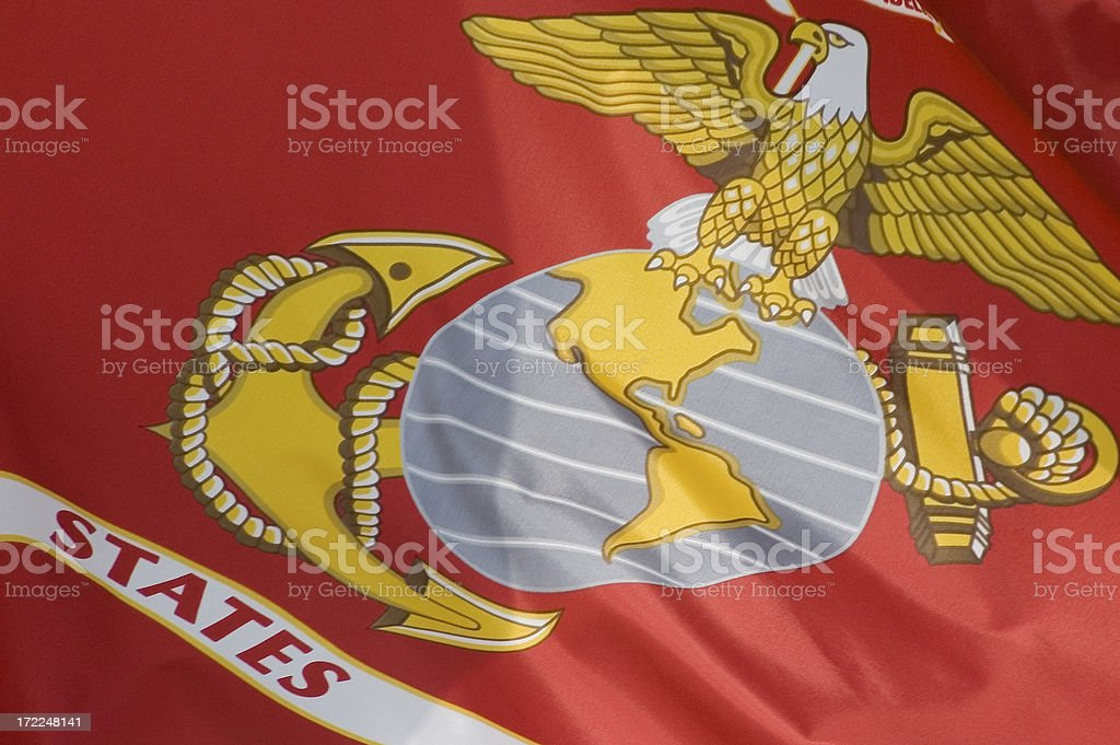 Flag of the United States Marine Corps stock photo