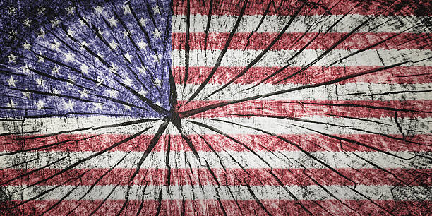 flag of the united states of america - detachment stock pictures, royalty-free photos & images