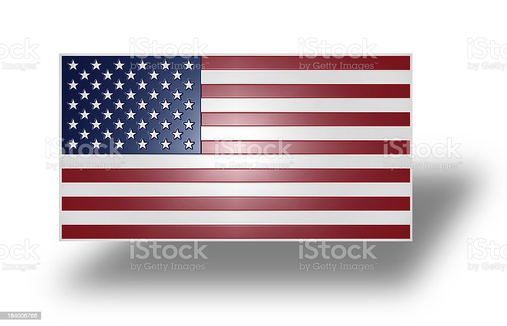 Flag of the United States (stylized I). royalty-free stock photo