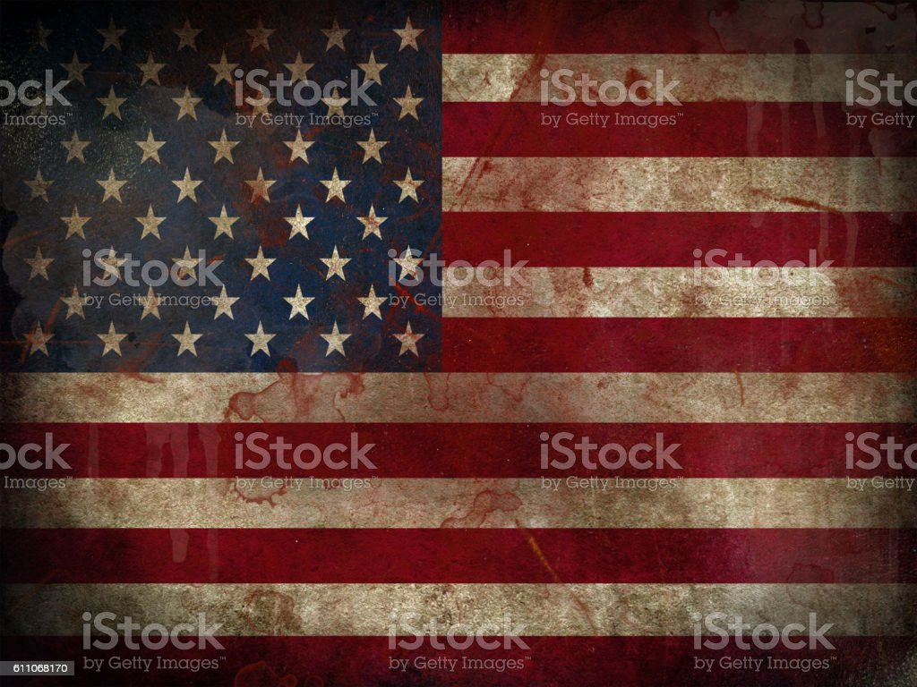 Flag of the United States stock photo