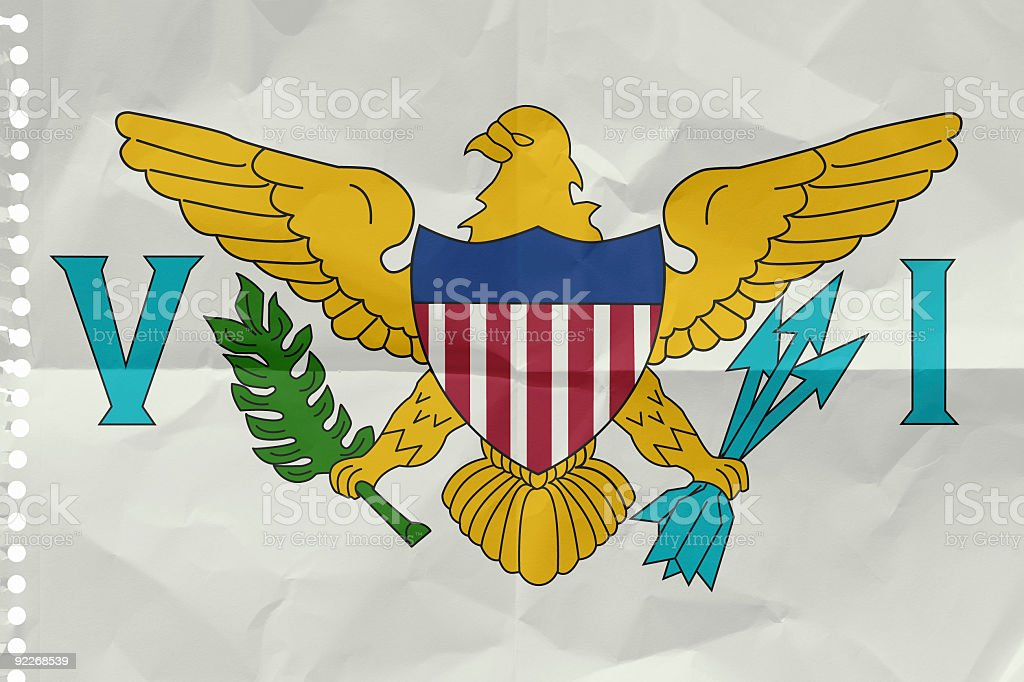 Flag of the United States Virgin Islands royalty-free stock photo