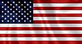 Flag of the United States waving background