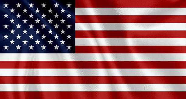 flag of the united states waving background - american flag stock pictures, royalty-free photos & images