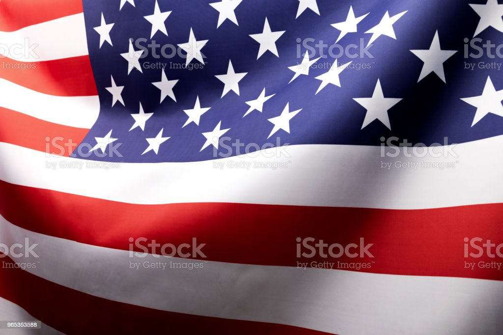 Flag of the United States.Studio shot. royalty-free stock photo