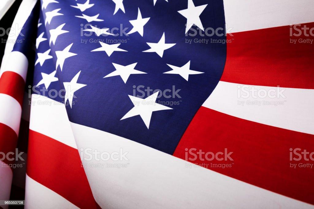 美國國旗. 工作室拍攝。 - 免版稅七月圖庫照片