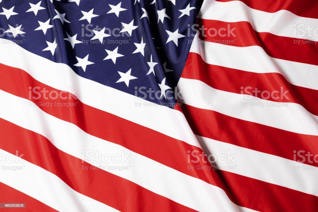 Flag of the United States.Studio shot. zbiór zdjęć royalty-free