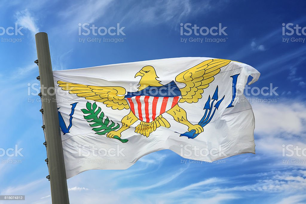Flag of the U.S. Virgin Islands stock photo