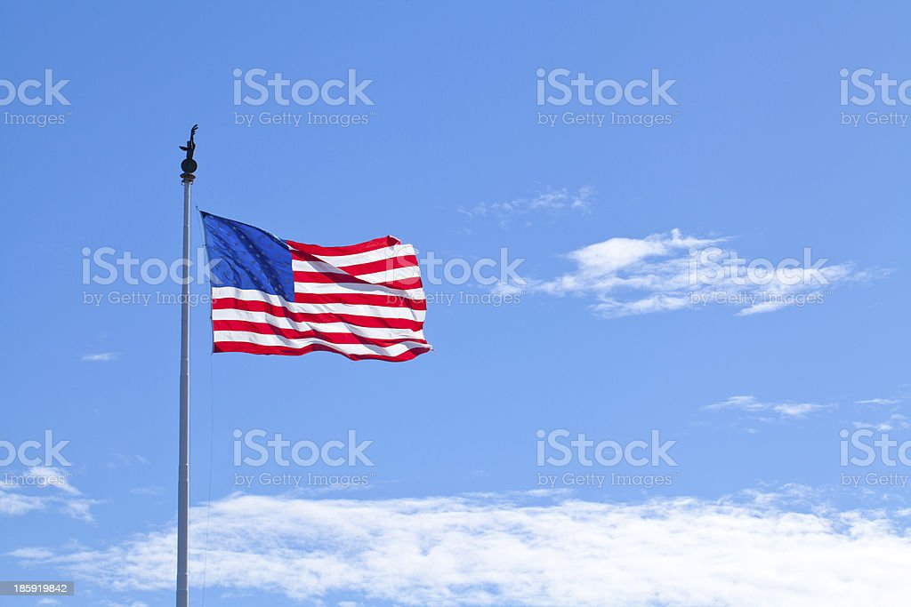 Flag of the USA royalty-free stock photo