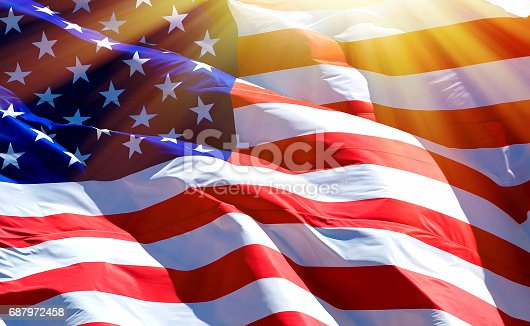 687972458 istock photo Flag of the USA 687972458