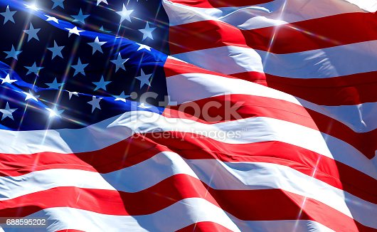687972458 istock photo Flag of the USA 688595202