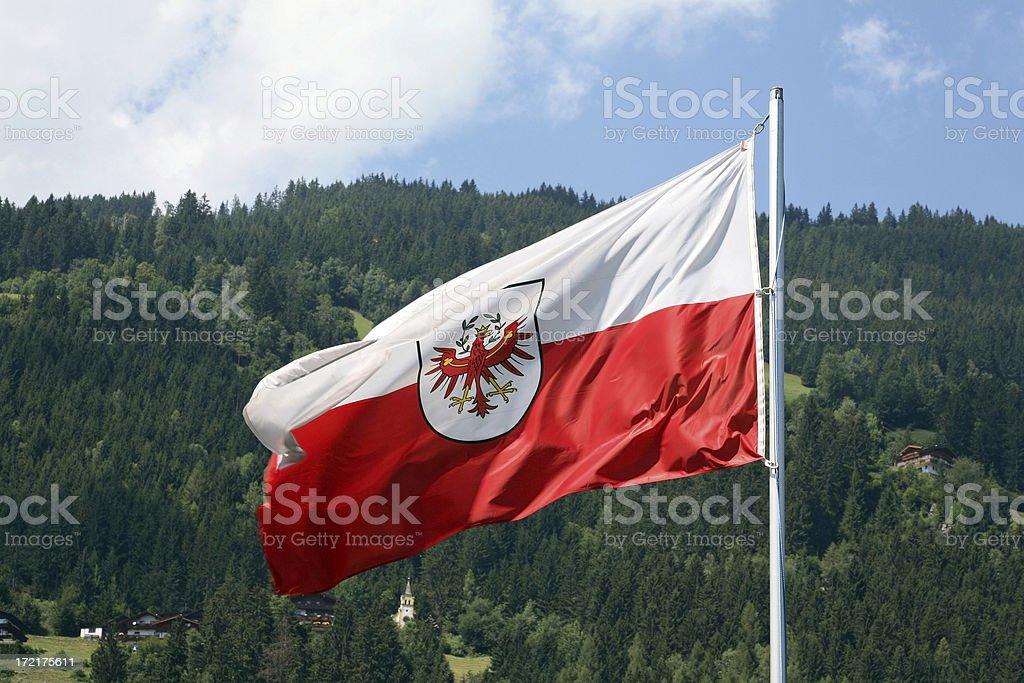 Flag of Tirol  (XL) royalty-free stock photo