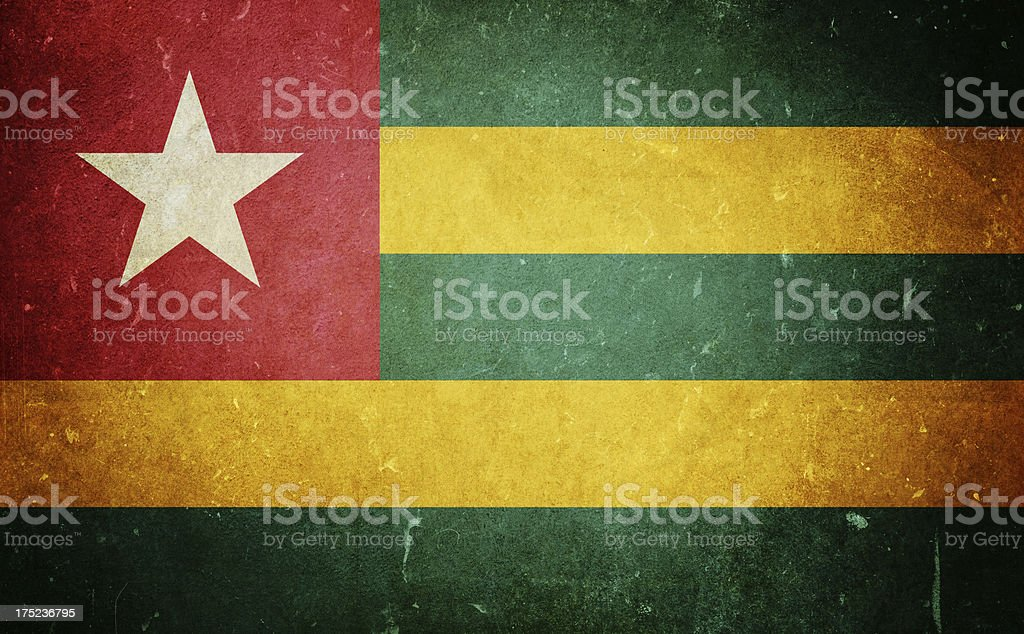 Flag of Togo royalty-free stock photo