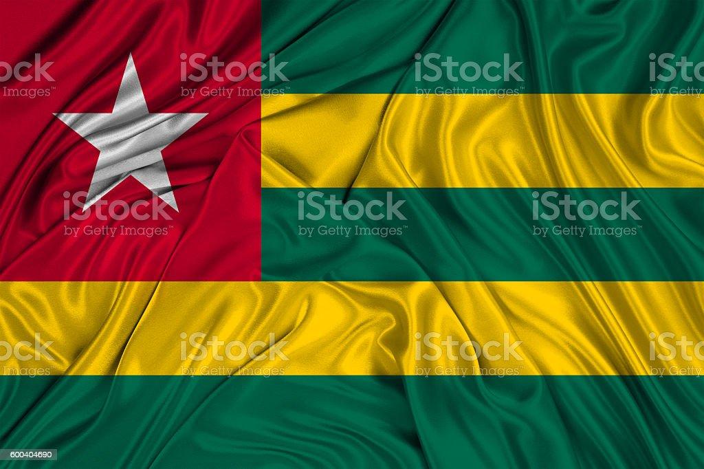 Flag of Togo stock photo
