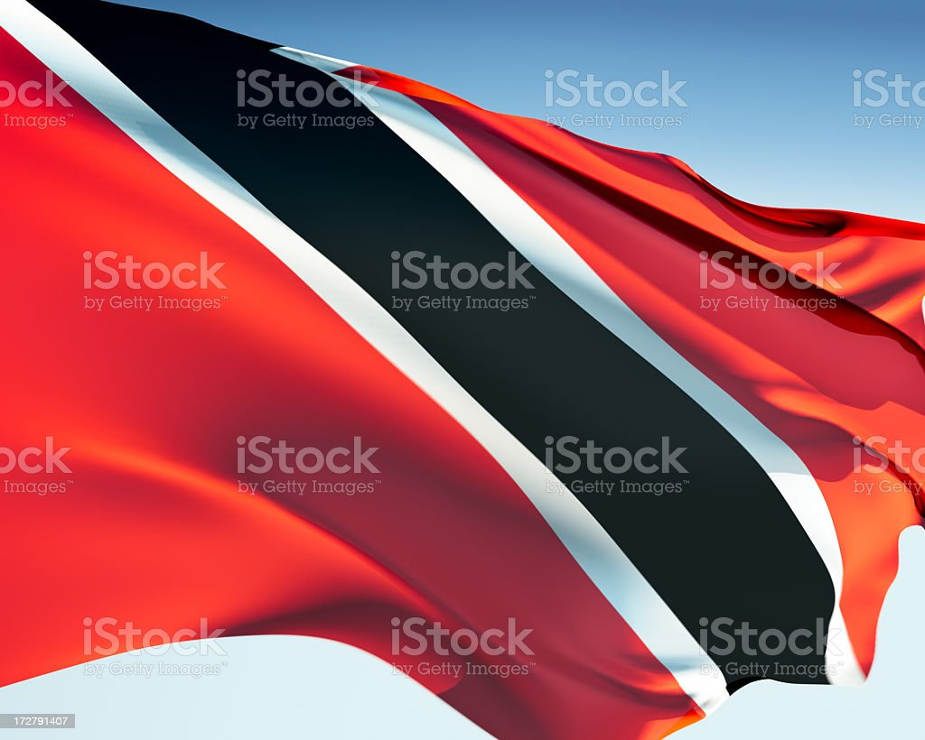Flag of Trinidad and Tobago royalty-free stock photo