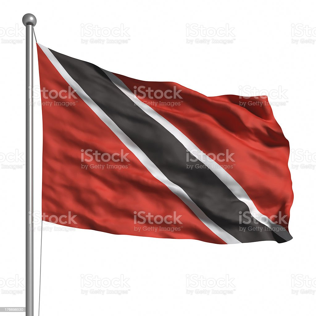 Flag of Trinidad and Tobago (Isolated) stock photo
