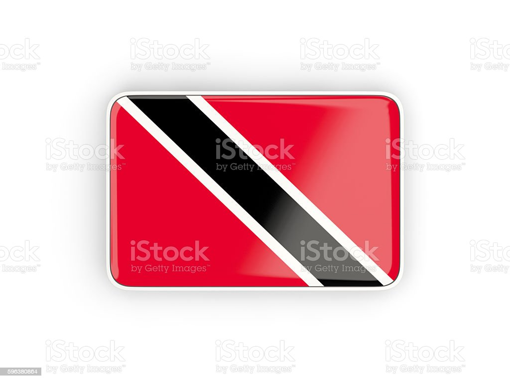 Flag of trinidad and tobago, rectangular icon stock photo