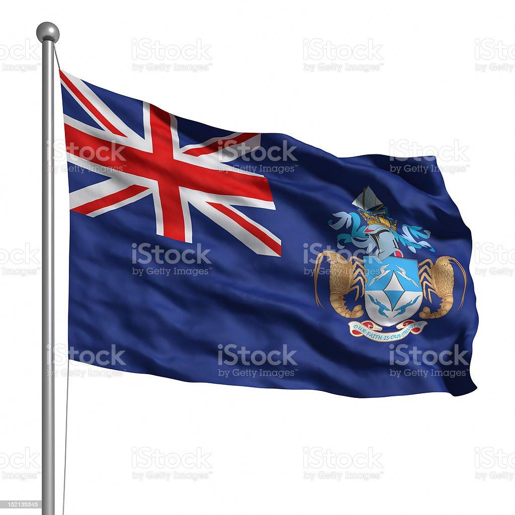 Flag of Tristan da Cunha (Isolated) royalty-free stock photo