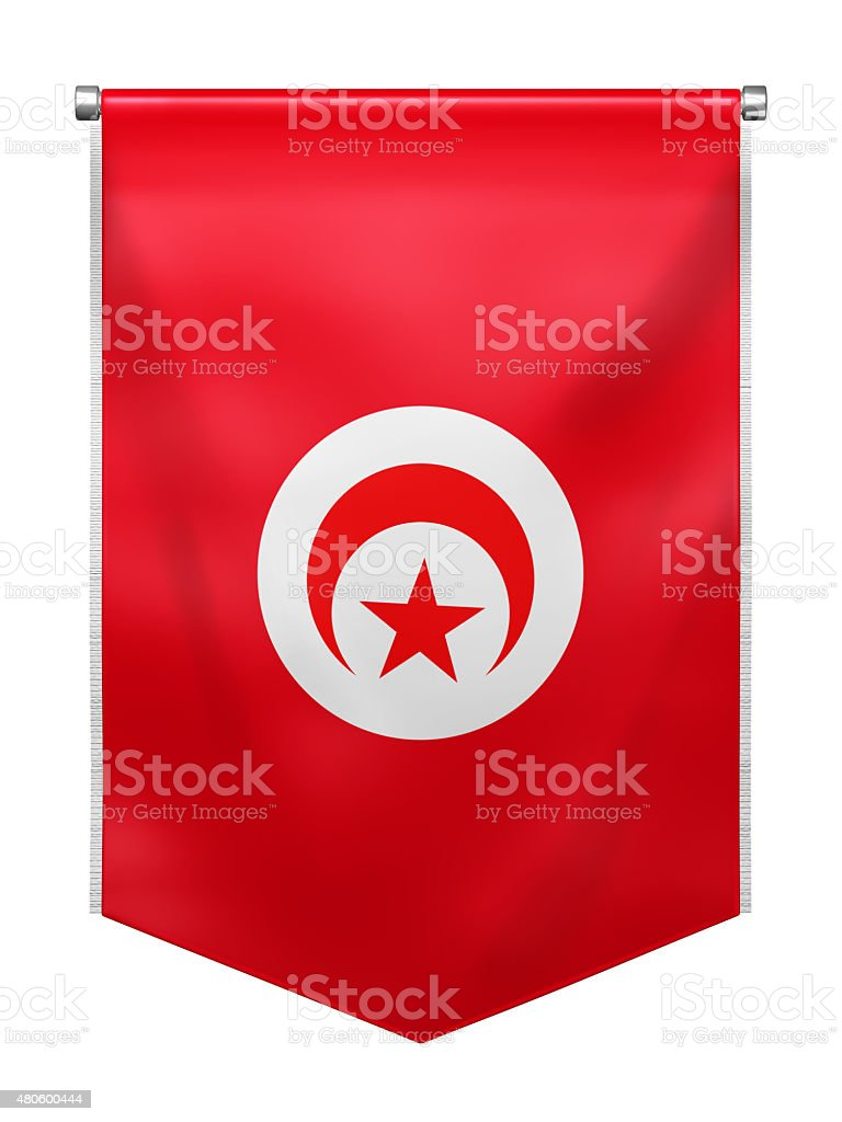 Flag of Tunisia stock photo