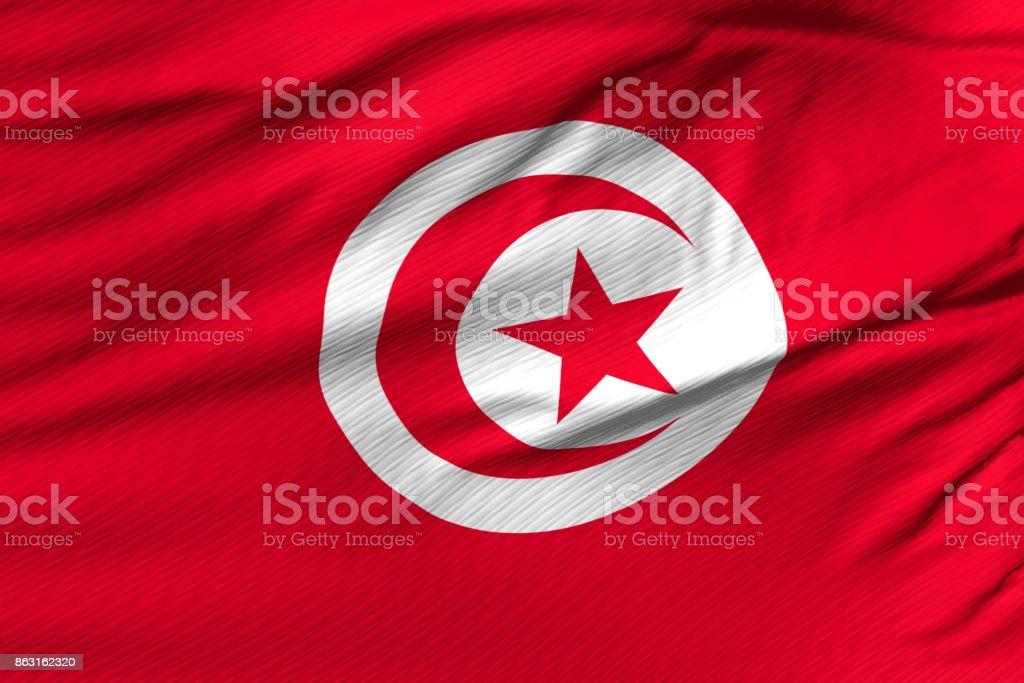 Flag of Tunisian stock photo