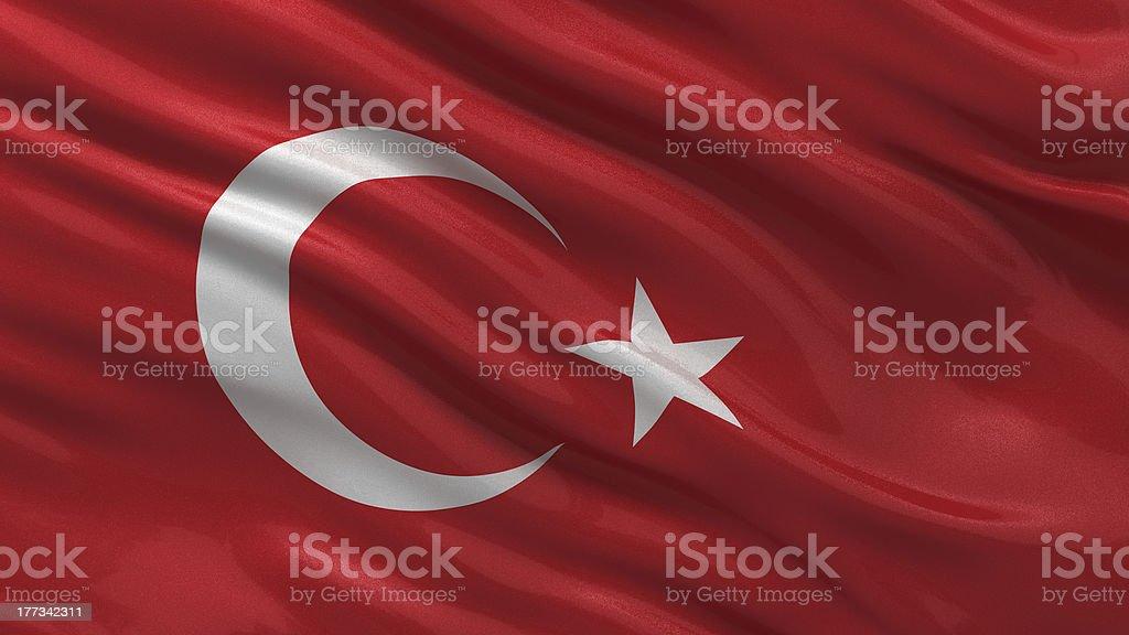Flag of Turkey stock photo