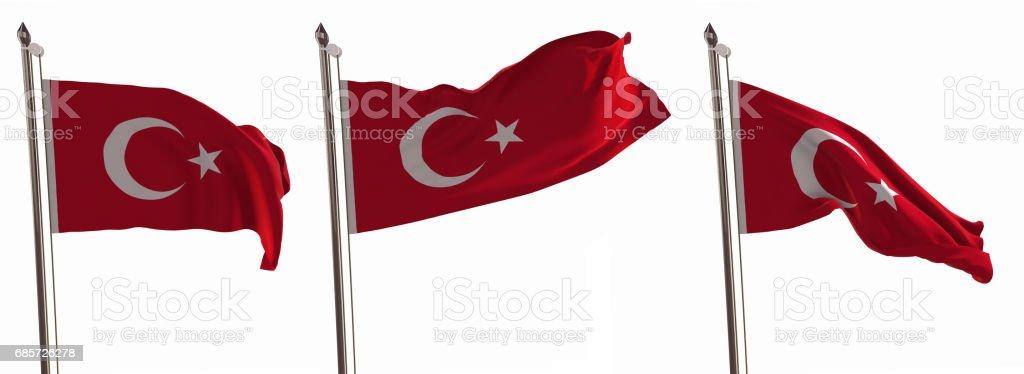 Flag of Turkey royalty-free stock photo
