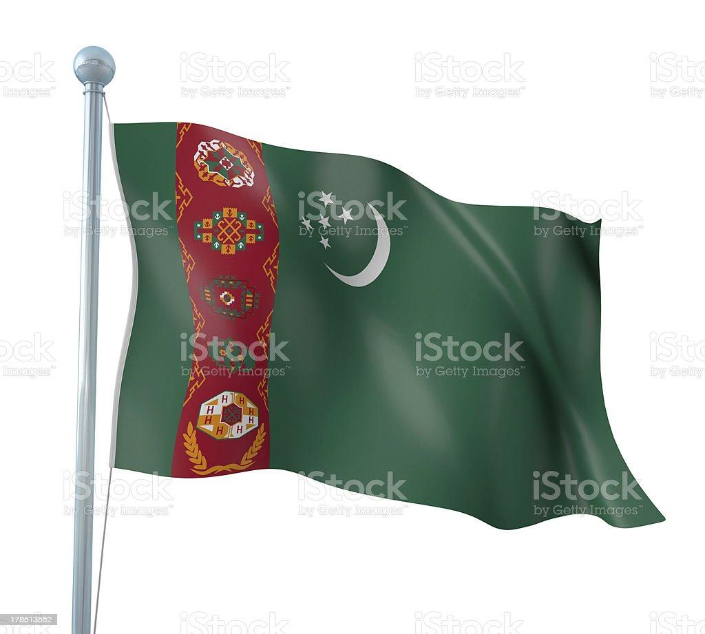 Flag of Turkmenistan stock photo