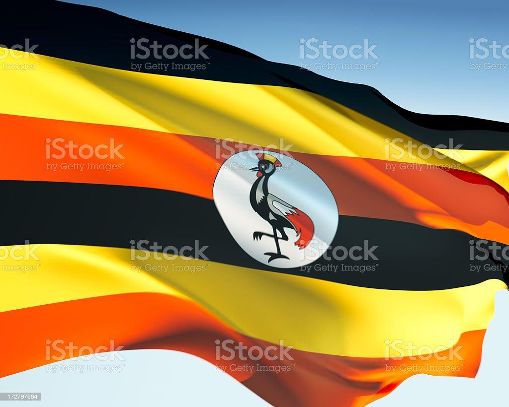 Flag of Uganda stock photo