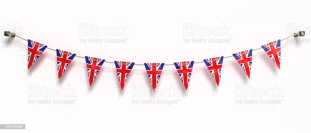 Bandeira do Reino Unido - fotografia de stock