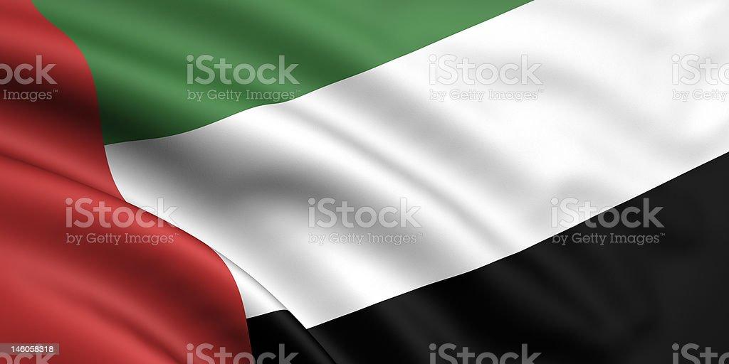 Flag Of United Arab Emirates royalty-free stock photo