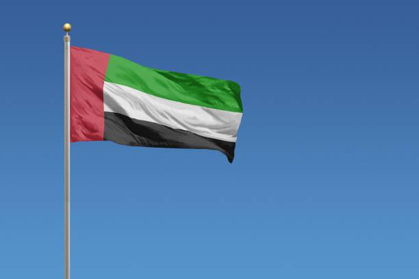 flag of united arab emirates - uae flag стоковые фото и изображения