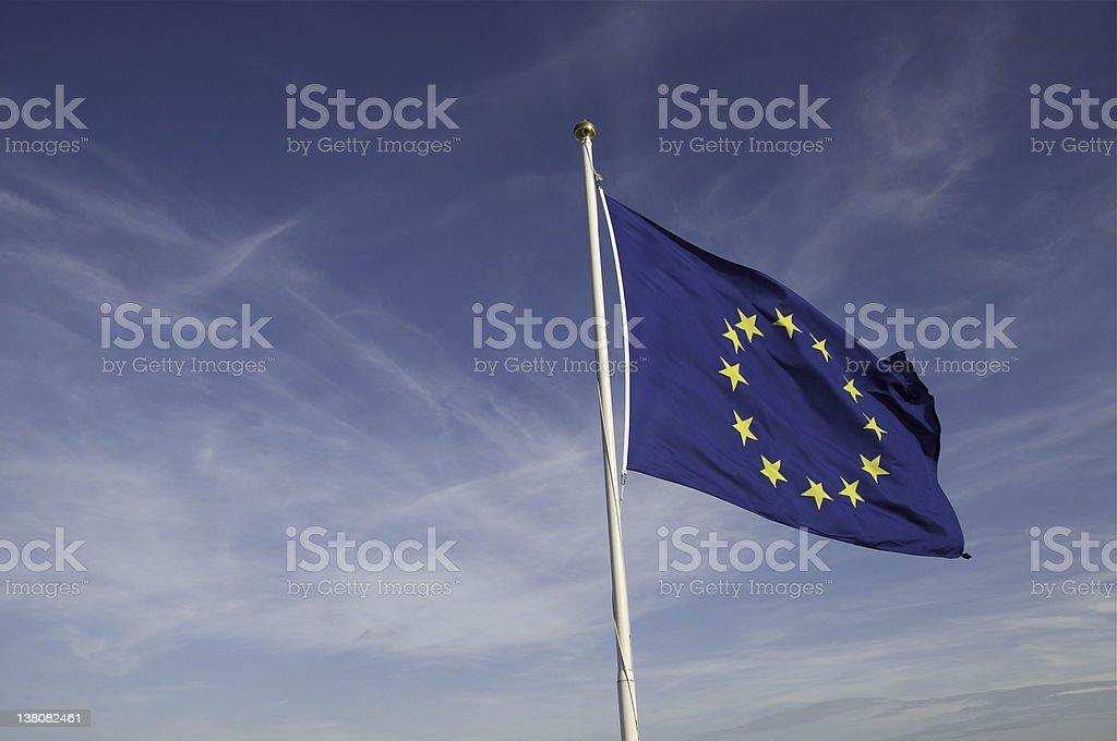 EU flag of united Europe stock photo