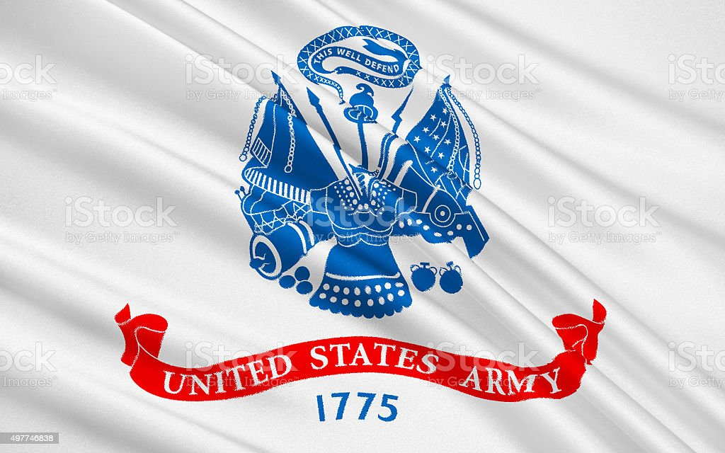 Flag of United States Armed Forces stock photo