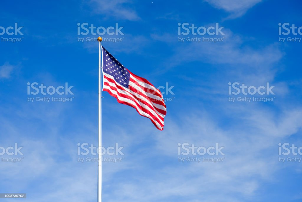 Flag of United States of America stock photo