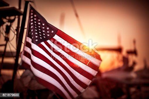 istock Flag of United States of America 821879600