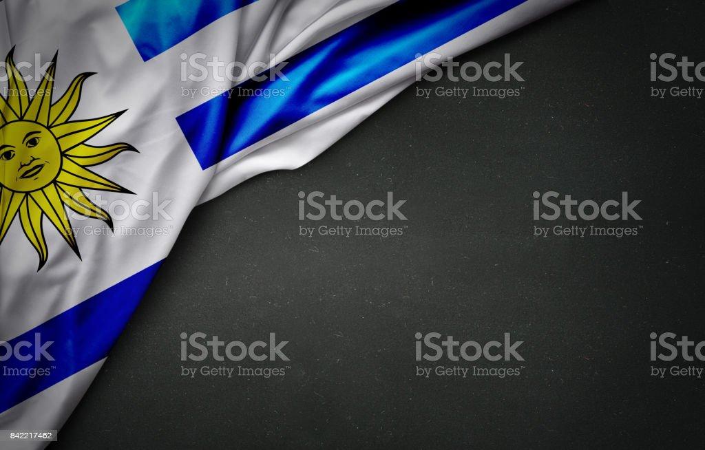Bandera de Uruguay en pizarra - foto de stock