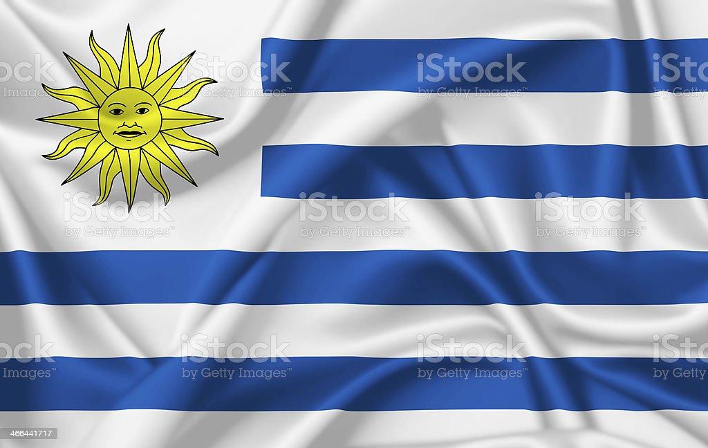 Bandera de Uruguay - foto de stock
