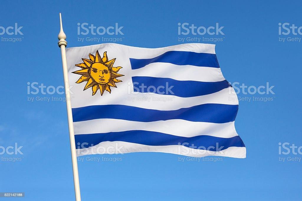 Bandera de Uruguay-Sudamérica - foto de stock