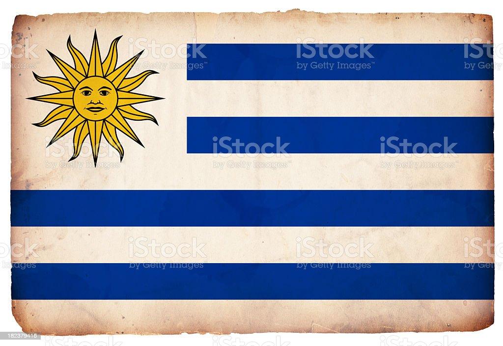 Flag of Uruguay - XXXL royalty-free stock photo