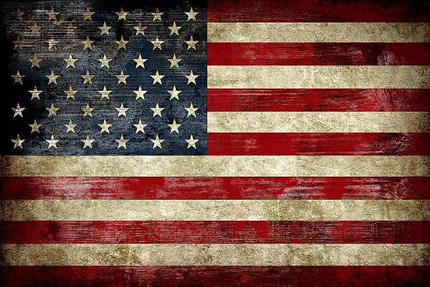 Flag of USA, painted on a wood plank SONY DSCFlag of USA, painted on a grunge plank distressed american flag stock pictures, royalty-free photos & images