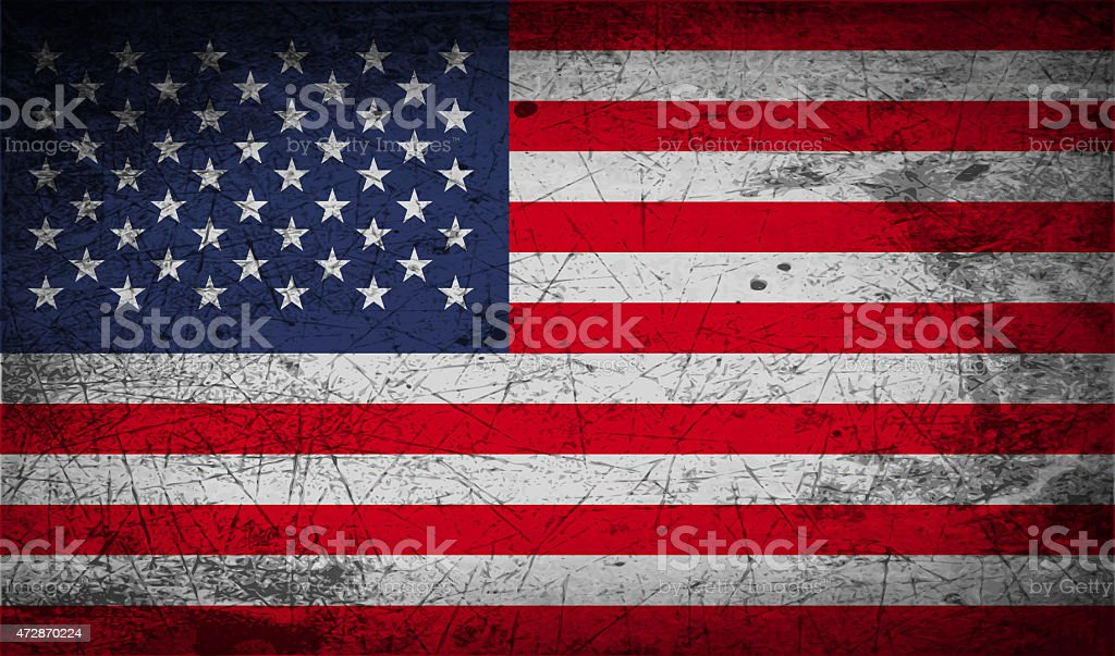 Flag of USA with old texture. stock photo