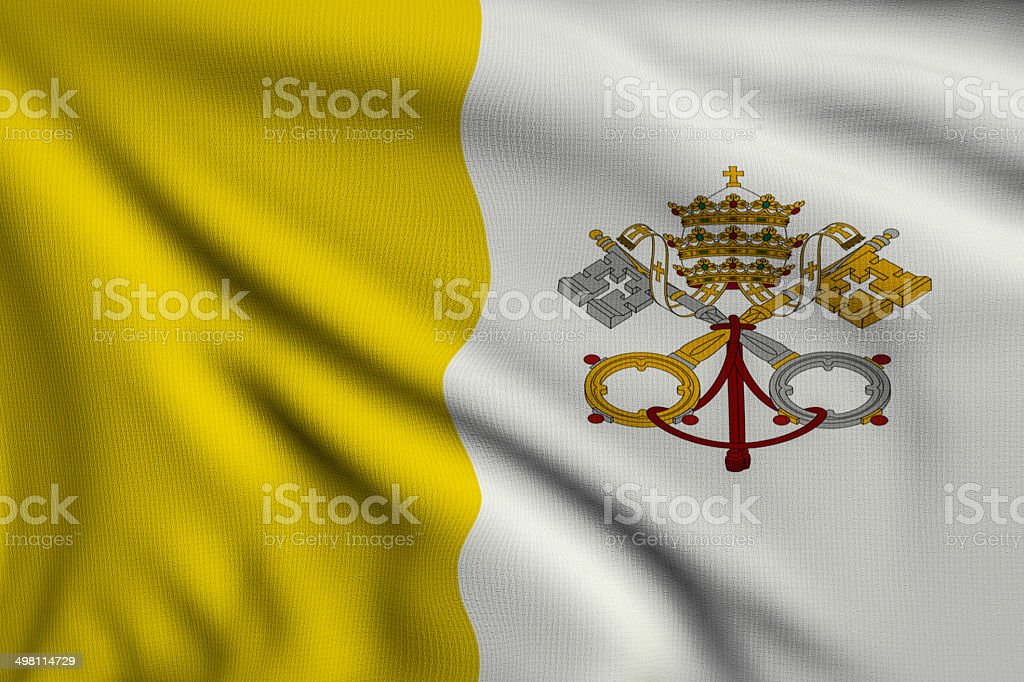 Flag of Vatican royalty-free stock photo