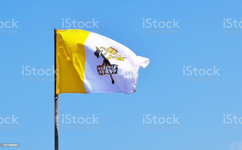 Flag of Vatican stock photo