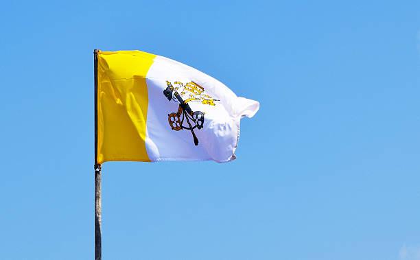 flag of vatican - pope francis stok fotoğraflar ve resimler