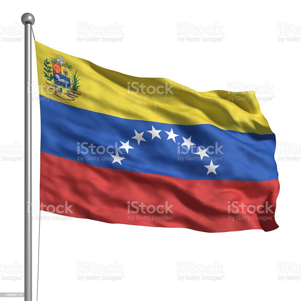 Bandera de Venezuela (aislado - foto de stock