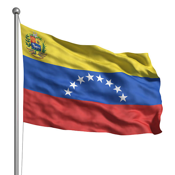 flag of venezuela (isolated) - venezuelan flag stock photos and pictures