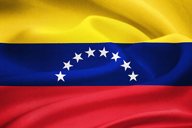 flag of venezuela - venezuelan flag stock photos and pictures