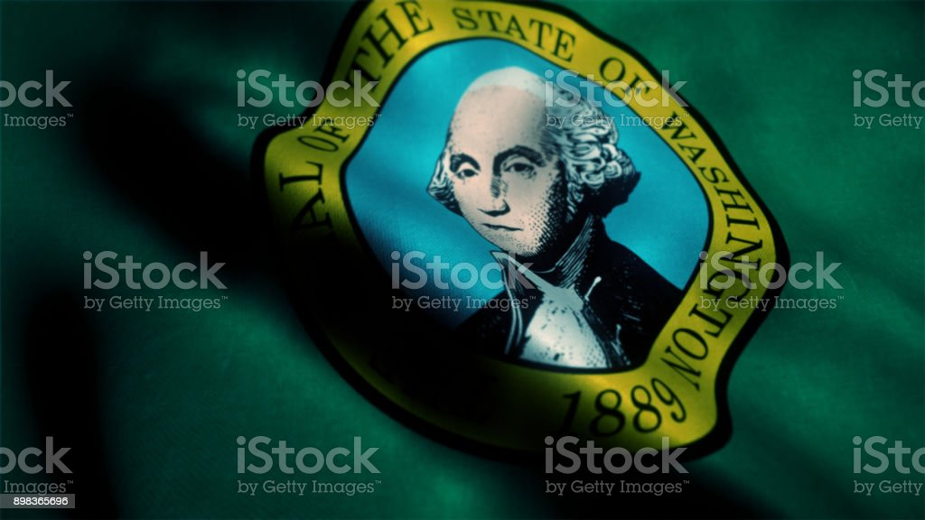 Flag of Washington state stock photo